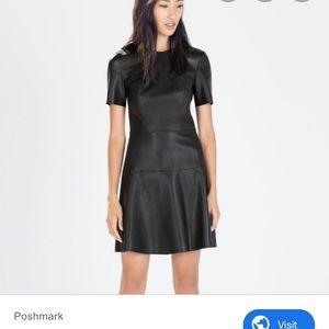 Faux leather Zara beautiful dress!